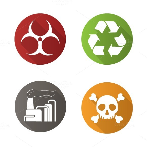 Chemical industry icons. Vector - Icons