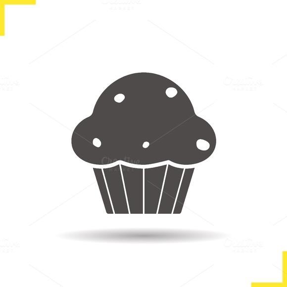 Cupcake icon. Vector - Icons