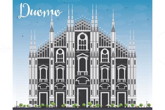 Duomo. Milan. Italy.  - Illustrations