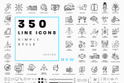 +350 Line Business Icons Co-Graphicriver中文最全的素材分享平台