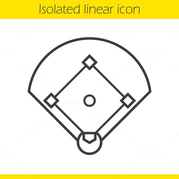 Baseball field icon. Vector - Icons