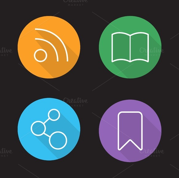 Web browser interface icons. Vector - Icons