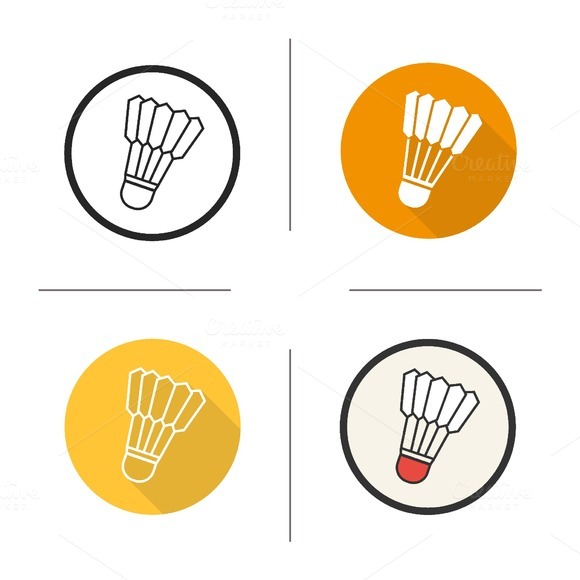 Shuttlecock icons. Vector - Icons