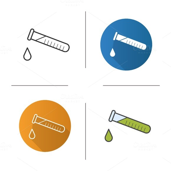 Chemical experiment icons. Vector - Icons