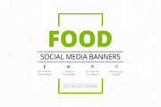Food Social Media Banners-Graphicriver中文最全的素材分享平台