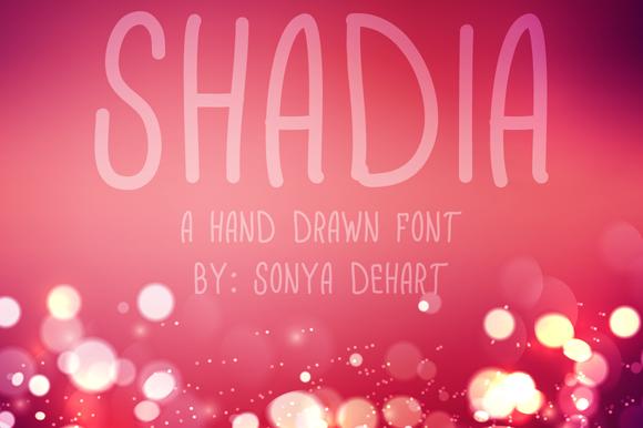 Shadia A Hand Drawn Font