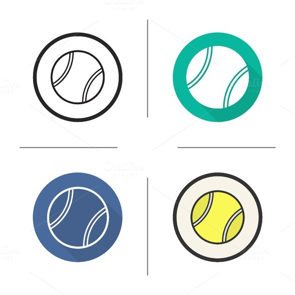 Tennis ball icons. Vector - Icons