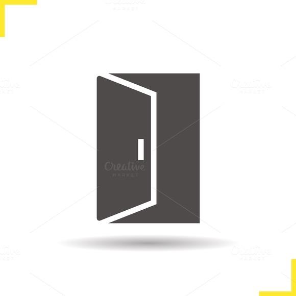 Open door icon. Vector - Icons