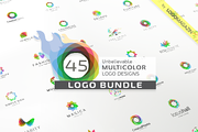 45 Multicolor Logos Bundle-Graphicriver中文最全的素材分享平台