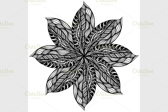 Black Rosette Ornament