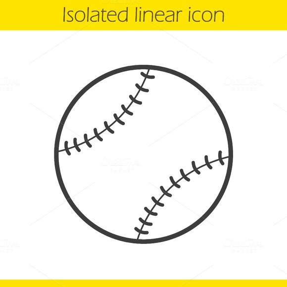 Baseball ball icon. Vector - Icons