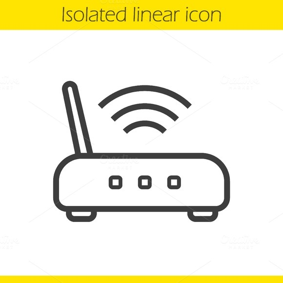 Wi fi router icon. Vector - Icons
