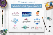 Watercolor logo templates V-Graphicriver中文最全的素材分享平台