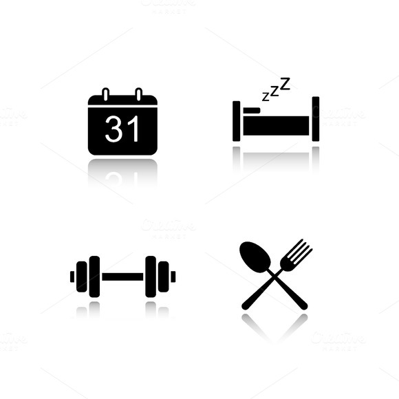 Everyday activities icons. Vector - Icons