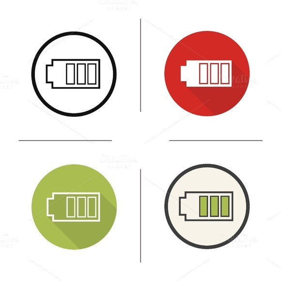 Battery icons. Vector - Icons