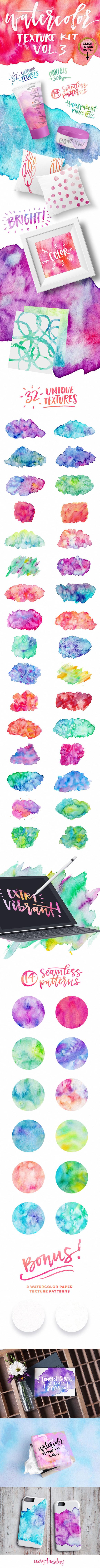 Watercolor Texture Kit Vol. 3 - Textures