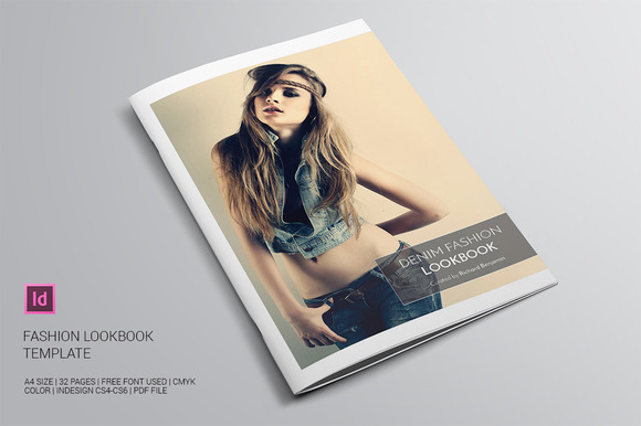 Lookbook fashion template indd free download designtube for Fashion designing templates free download