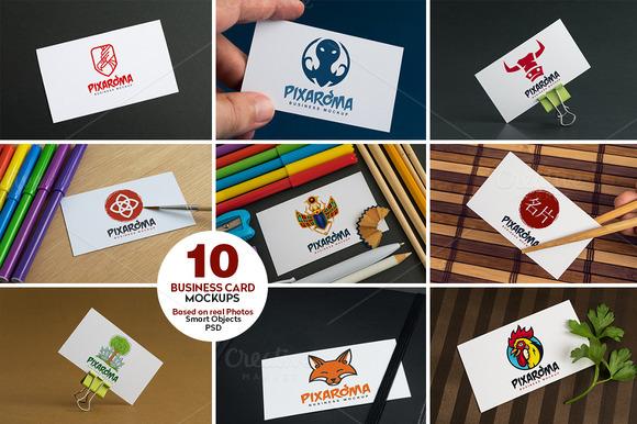 10 Business Card Mock-ups Vol.1 - Product Mockups
