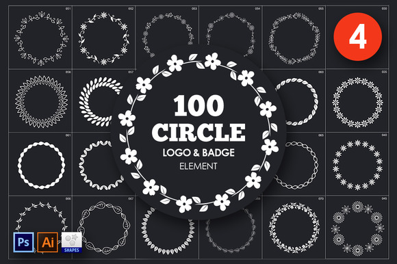 Circle Logo & Badge Element Vol. 4 - Objects