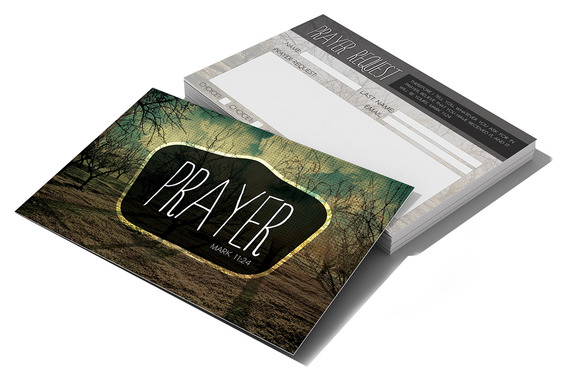 prayer request card card templates on creative market. Black Bedroom Furniture Sets. Home Design Ideas