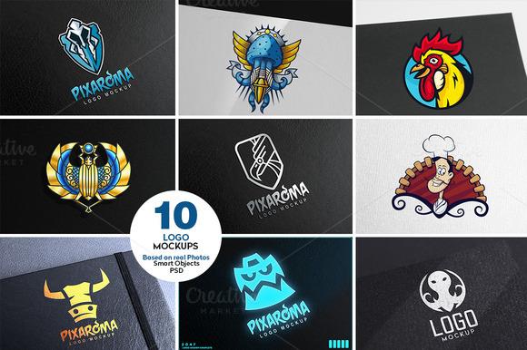 10 Logo Mock-ups Vol.2 - Product Mockups
