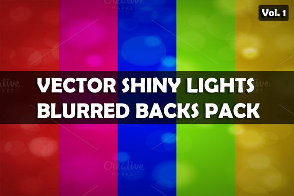 Vector shiny lights backs pack V.1 - Patterns