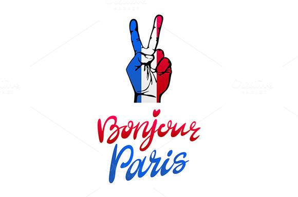 Bonjour Paris Card Hand Victory