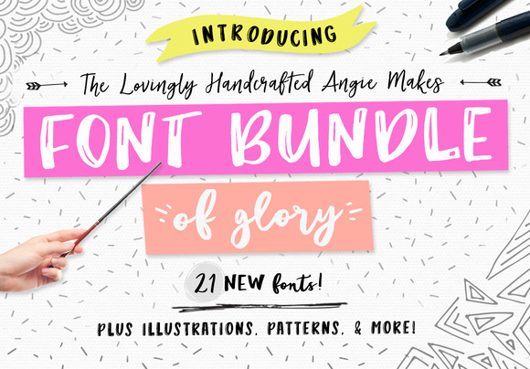Angie Makes Font Bundle of Glory - Fonts