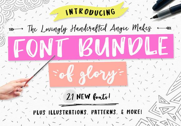 Angie Makes Font Bundle of Glory - Fonts