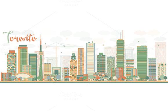 Abstract Toronto Skyline