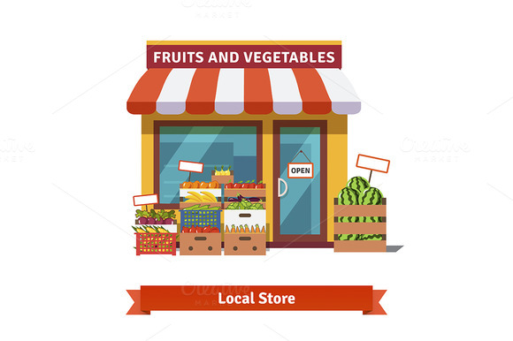 Local Fruit And Vegetables Store