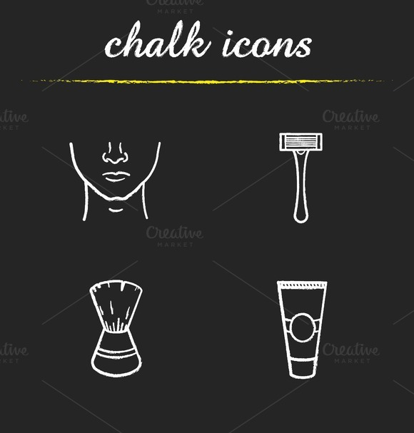 Shaving icons. Vector - Icons