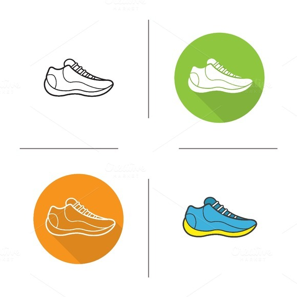 Sneakers icons. Vector - Icons