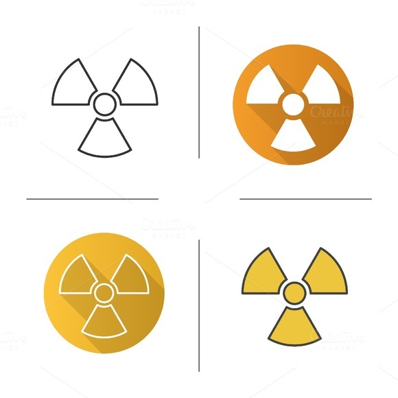 Radiation sign icons. Vector - Icons