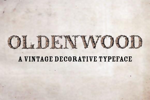 Font Oldenwood Caps Only