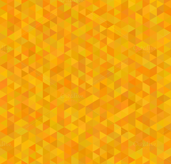 Orange And Yellow Triangles Pattern