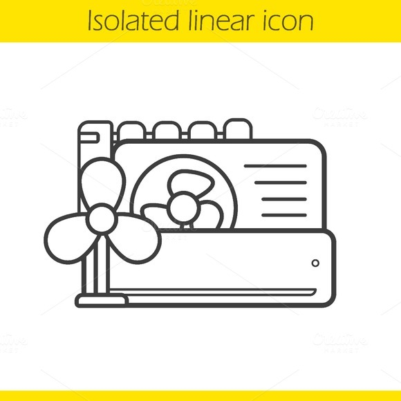 Conditioners icon. Vector - Icons