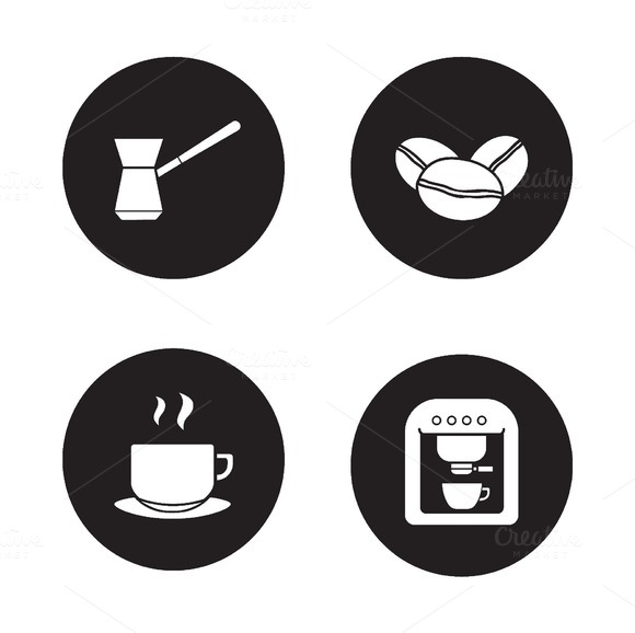 Coffee appliances icons. Vector - Icons