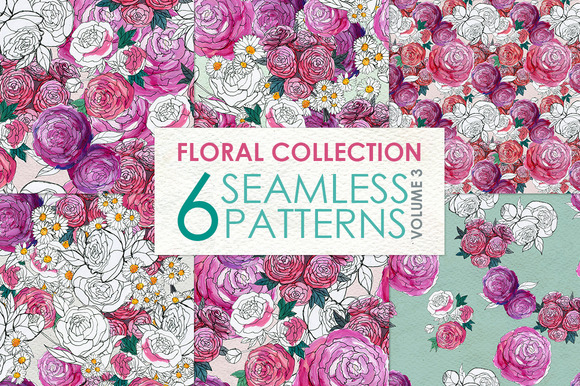 Floral Pattern Collection Vol. 3 - Patterns