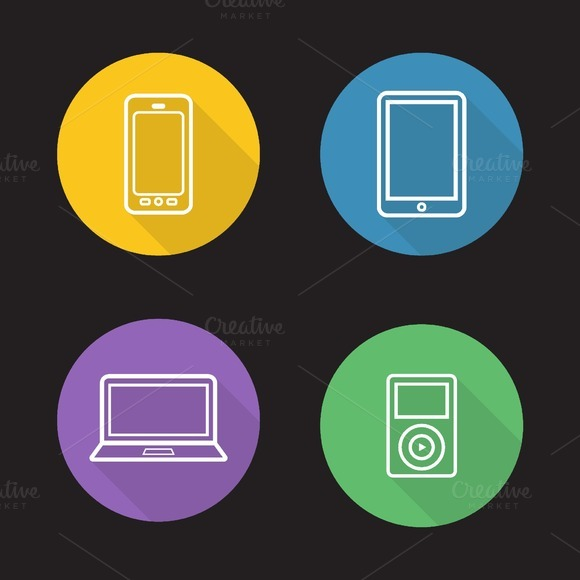 Modern gadgets icons. Vector - Icons