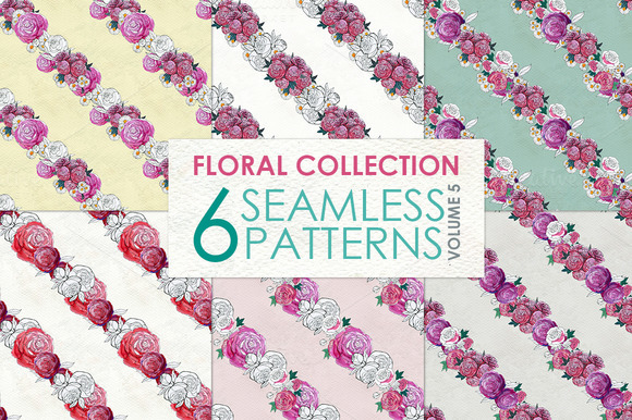 Floral Pattern Collection Vol. 5 - Patterns