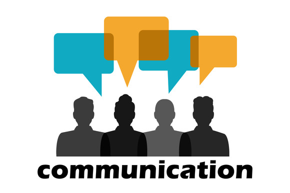 Classic Communication Icon Talk Between Two People Stock ... |Communication Between People