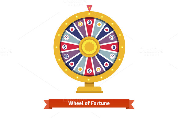 Stock graphic wheel of fortune for Online wheel of fortune template