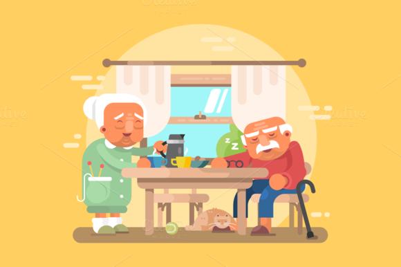 grandparents breakfast clipart - photo #44