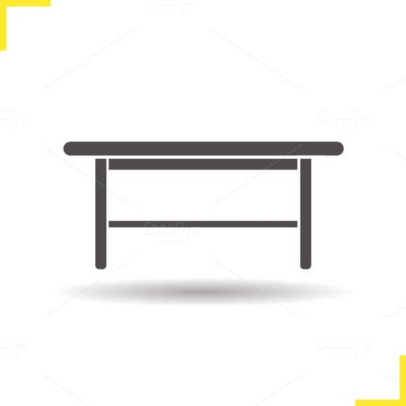 Wooden table icon. Vector - Icons