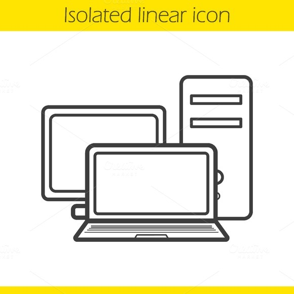 Computers icon. Vector - Icons