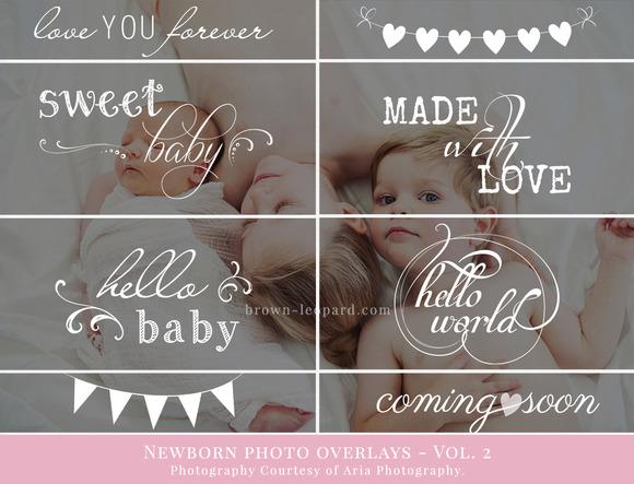 Newborn Photo Overlays vol. 2 - Illustrations