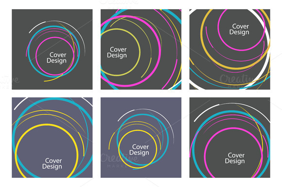 Abstract line circle design Vol.2 - Patterns