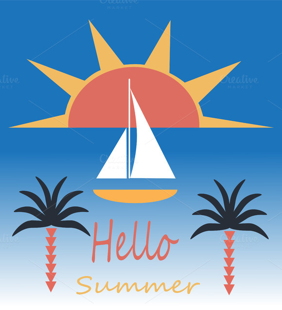 Summer Background Yacht Flat