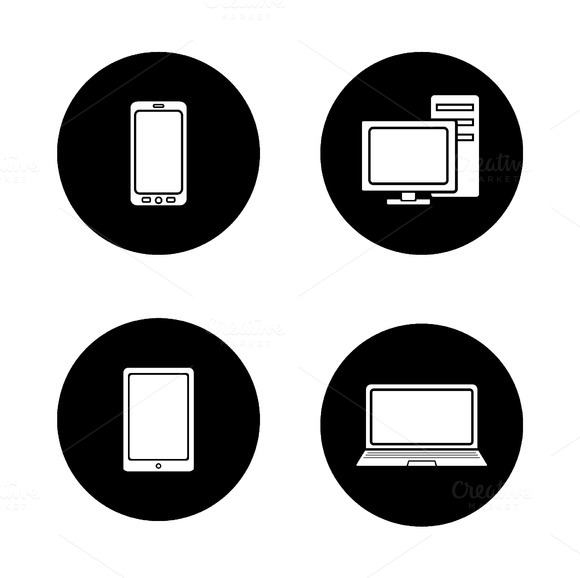 Consumer electronics icons. Vector - Icons